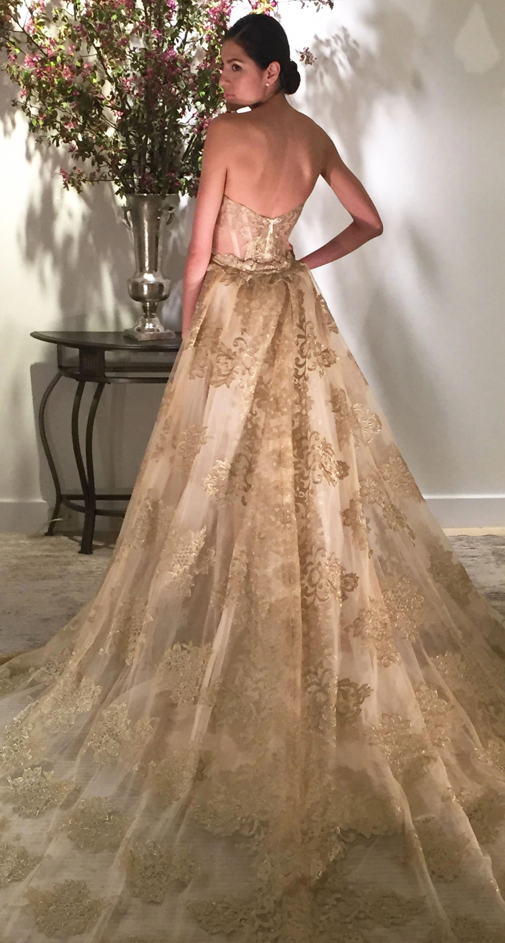 Gwendelyn in 2020 Gold wedding gowns, Colored wedding