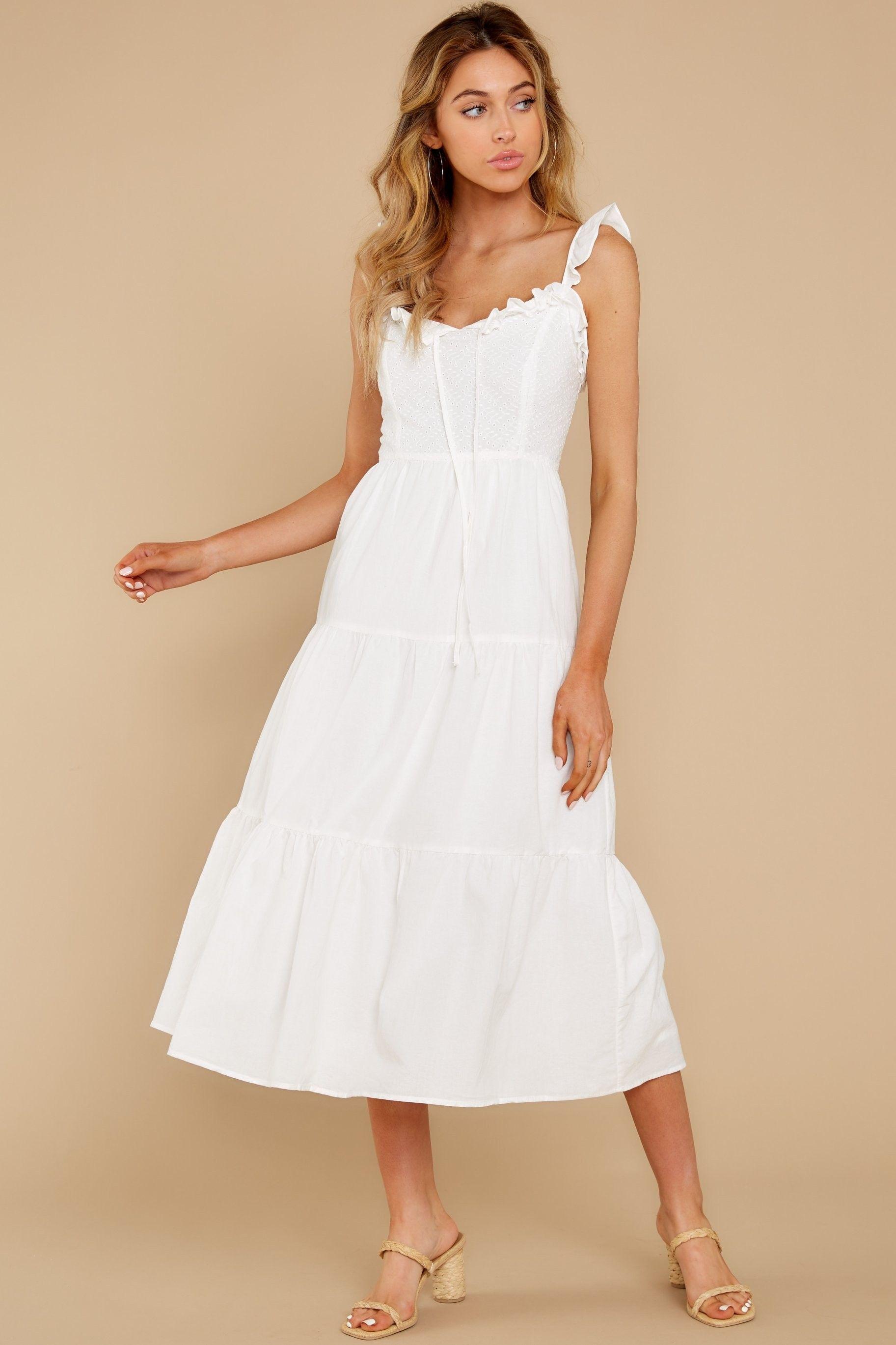 Rush To You White Eyelet Midi Dress Odezhda [ 2738 x 1825 Pixel ]