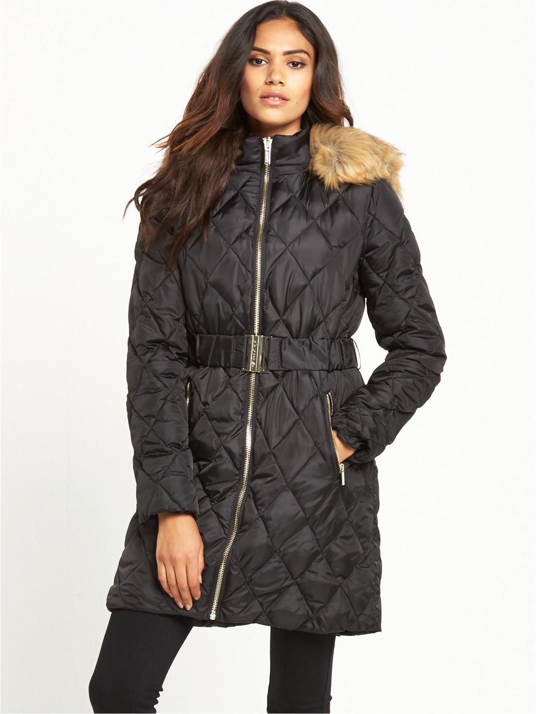Lipsy Long Quilted Padded Co | Lipsy, Long puffer coat and Coats : quilted padded coat - Adamdwight.com