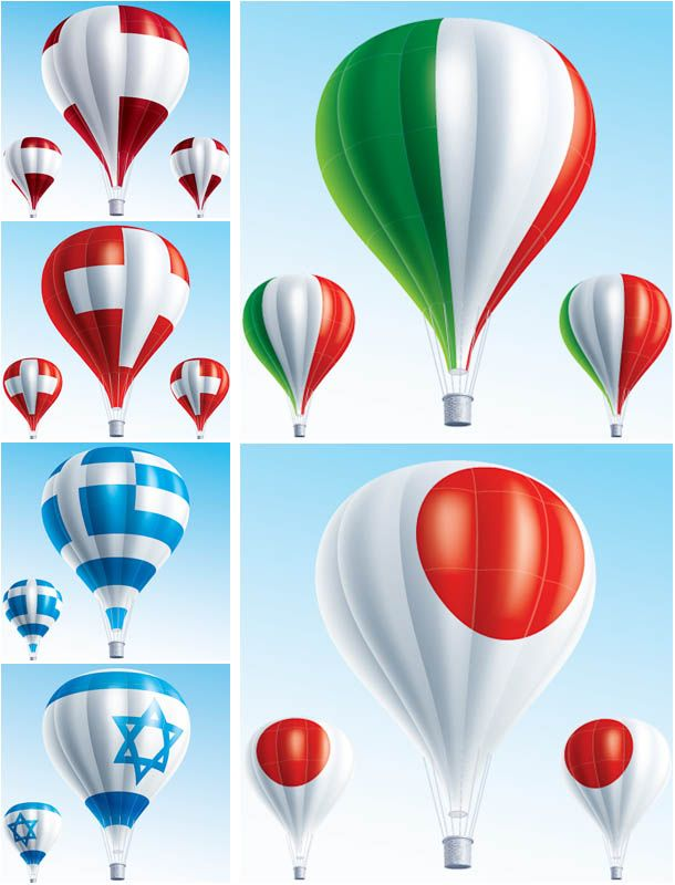Hot air balloon vector | Vector Graphics Blog