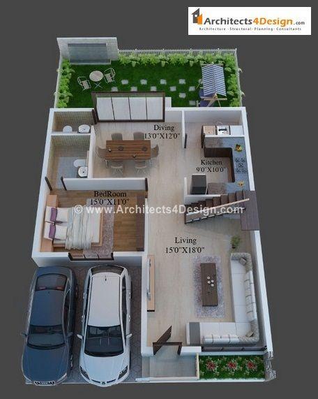 Duplex House Plans For 20x30 Site 20x30 House Plans