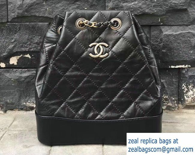 chanel bags 2017 black. chanel gabrielle backpack bag a94485 black 2017 bags