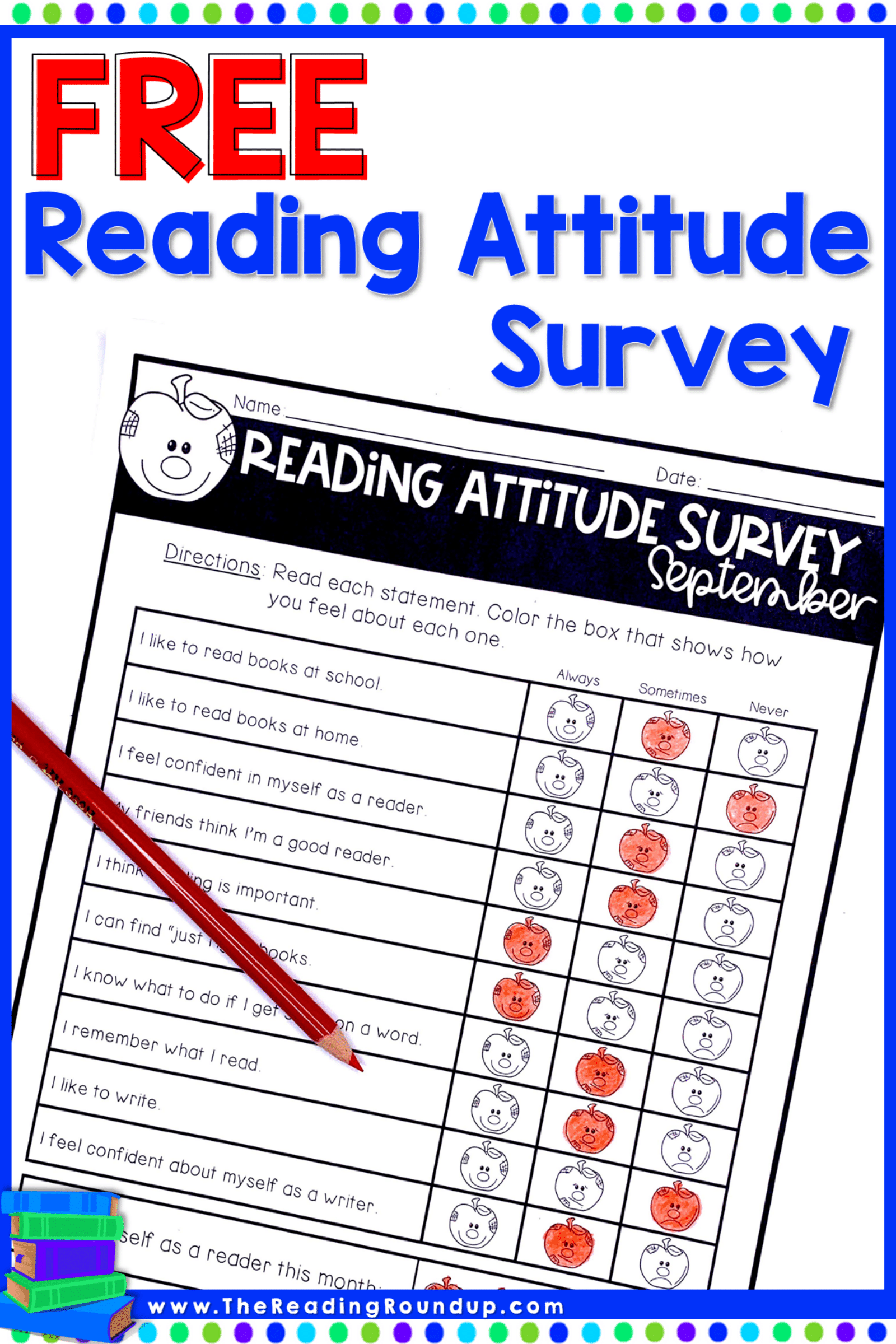Reading Attitude Survey Freebie