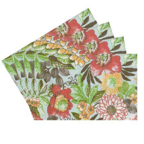 Raymond Waites Premium Quality Reversible Placemats - Set of 4 (Aqua/Multicolored Flowers) - Placemat 14 in x 18 in Raymond Waites,http://www.amazon.com/dp/B00HVL5BSC/ref=cm_sw_r_pi_dp_txSptb1ZBZKKEC87