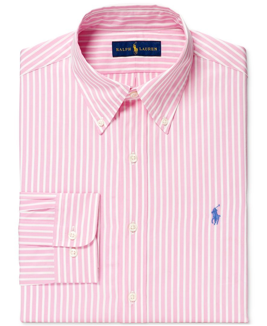 9baa02be Polo Ralph Lauren Men's Slim-Fit Bengal-Striped Dress Shirt   mens ...