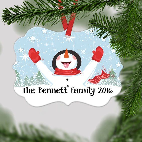 Personalized Family Christmas Ornament - Family Christmas Gift