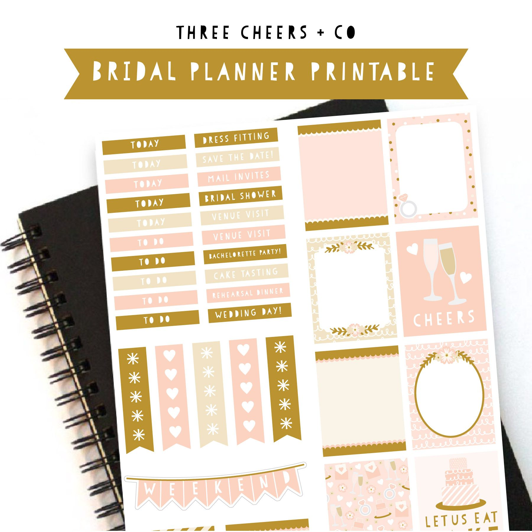 get ready for your wedding day with a free bridal planner sticker