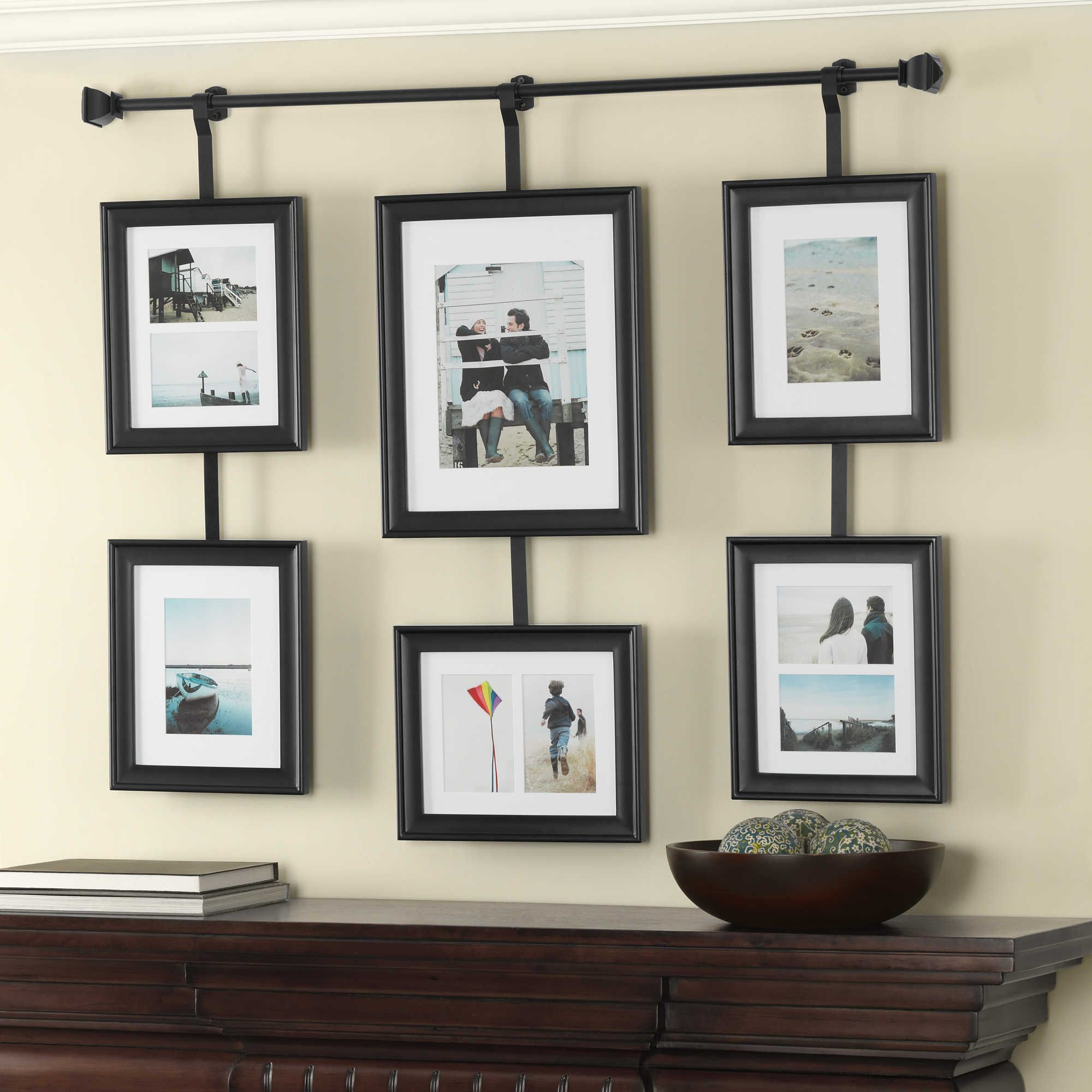 wall solutions rod and frame set - Wood Picture Frame Set