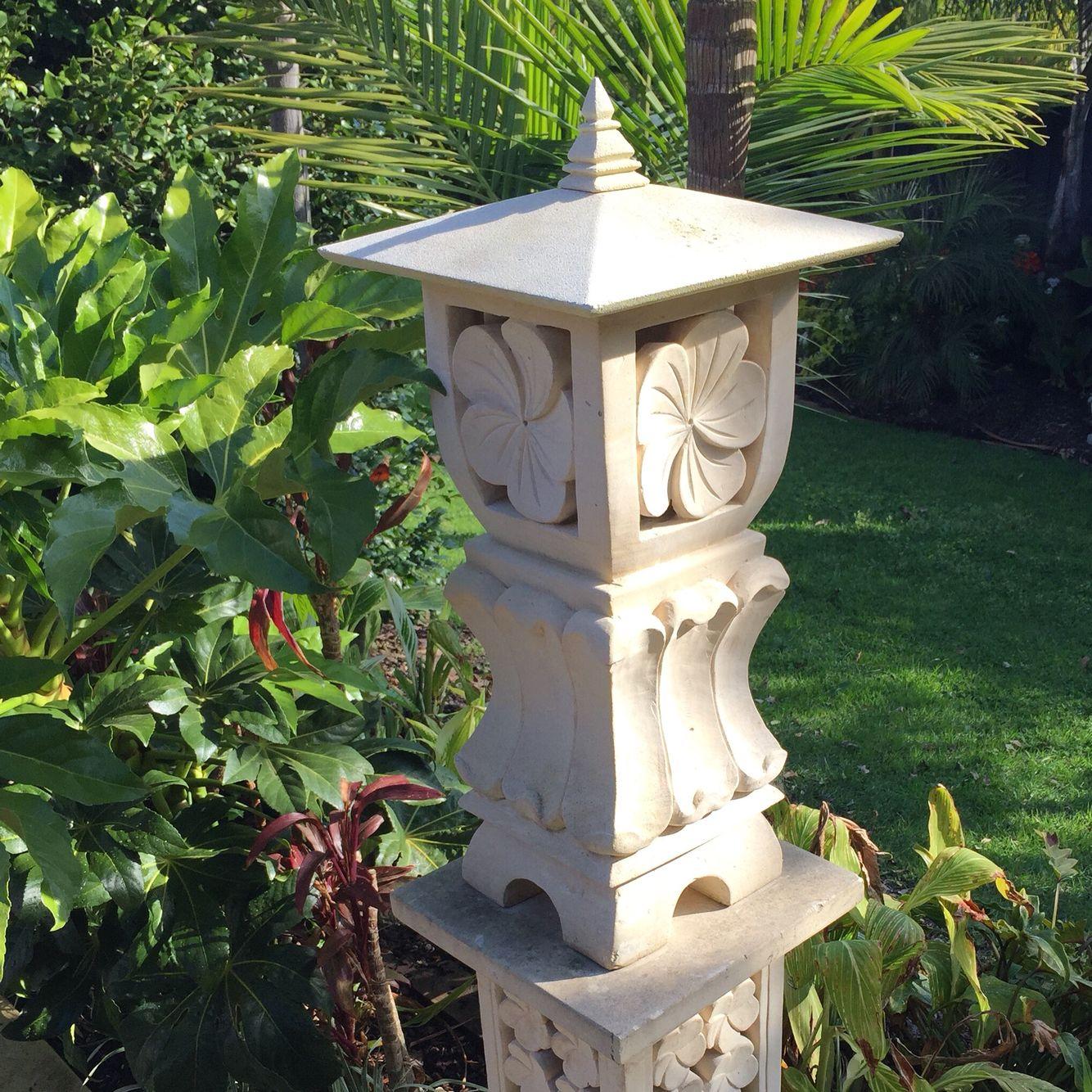 Limestone Garden Lantern | planters | Pinterest | Garden lanterns ...