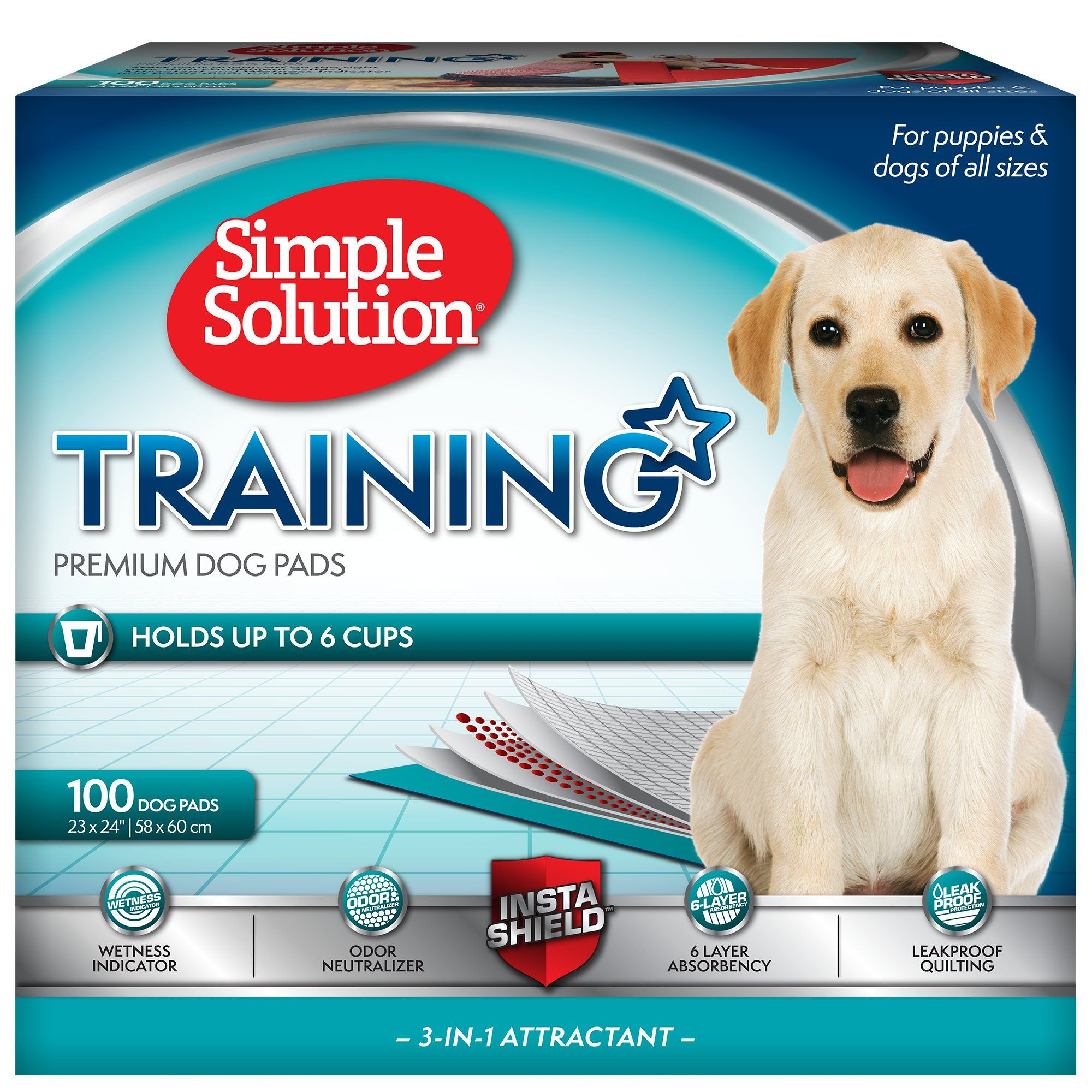Simple Solution Dog Training Pads Count Of 100 100 Ct Puppy