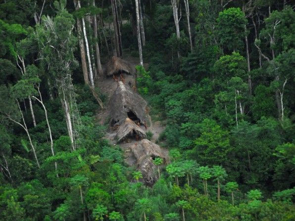 The Yanomami Indians huts -   The Amazon rainforest is Urihi to the Yanomami, a forest-land covered with the mirrors of dancing spirits;