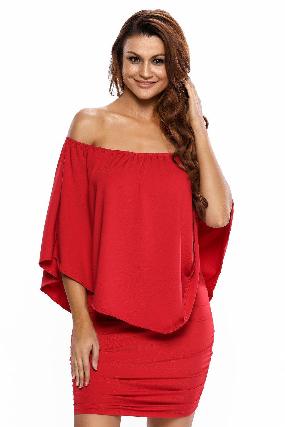 37fab29b1fb Robe a Volant Rouge Courte Chic Vinaigrette de Multiples Couches Pas Cher  www.modebuy.com  Modebuy  Modebuy  Rouge  femmes  me  robes