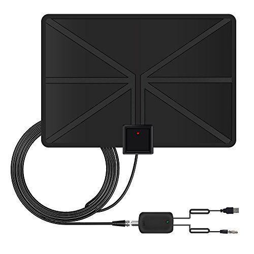 Ecandy antena de tv digital de tdt y hd para uso interior con mas de 80km de distancia - Antena tdt interior casera ...