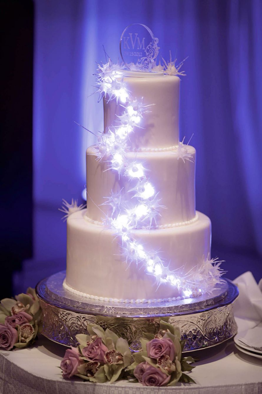 Wedding Cake With Fairy Led Lights