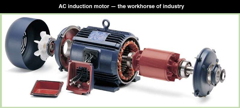 This exploded view of a leeson electric ac induction motor for Red wing ball bearing ac motor