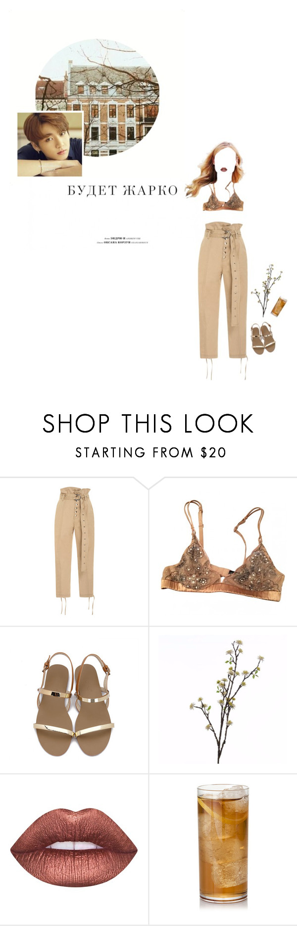 """""""Untitled #104"""" by ulzzwng ❤ liked on Polyvore featuring Marissa Webb, La Perla, Wyld Home and Lime Crime"""