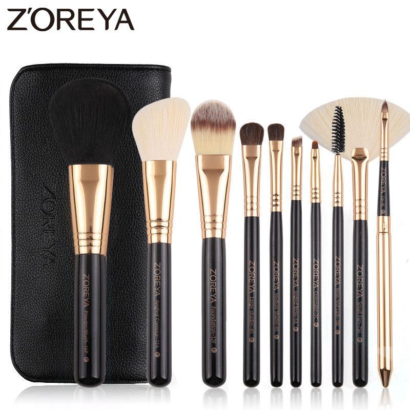 Photo of Zoreya Brand 10Pcs Makeup Brushes Professional Cosmetic Brush Foundation Make Up…