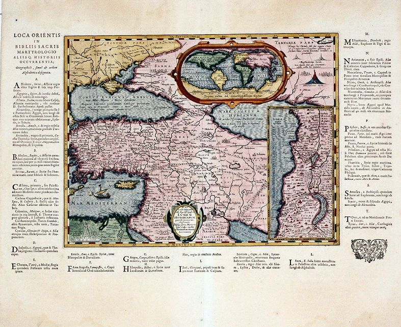 Middle East Map With Capitals%0A Antique map of the Middle East  Oval World map  F  Haraeus   Ortelius