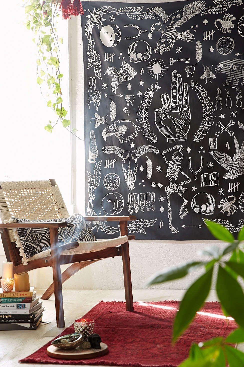 4040 Locust Tattoo Tapestry Decor Room Decor Home Decor