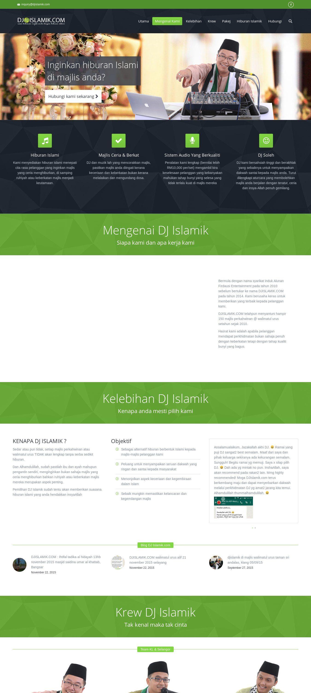 WordPress site djislamik.com uses the The7 theme wordpress