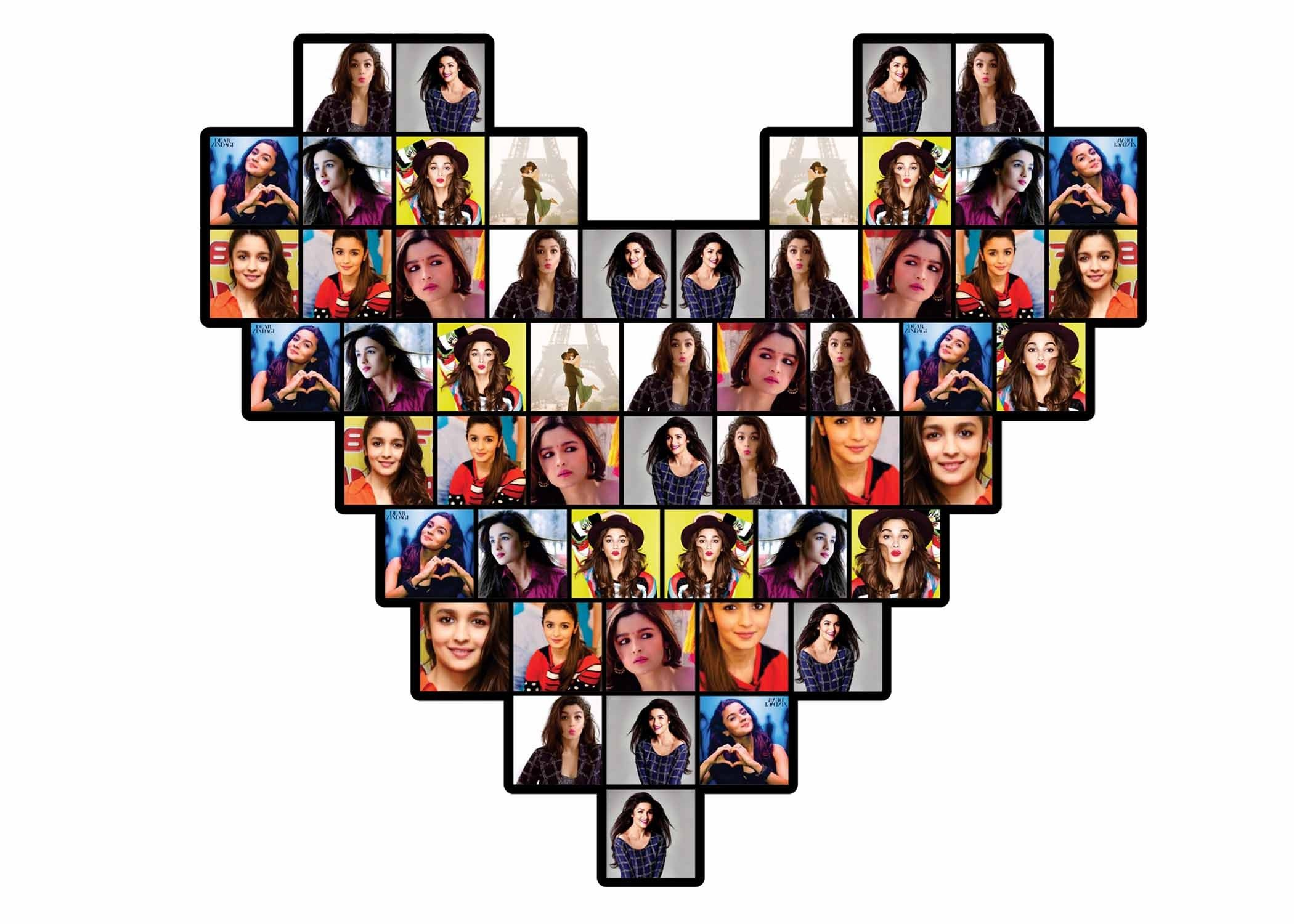 Personalized Heart Shape Collage Frame | Valentines Day Gifts ...