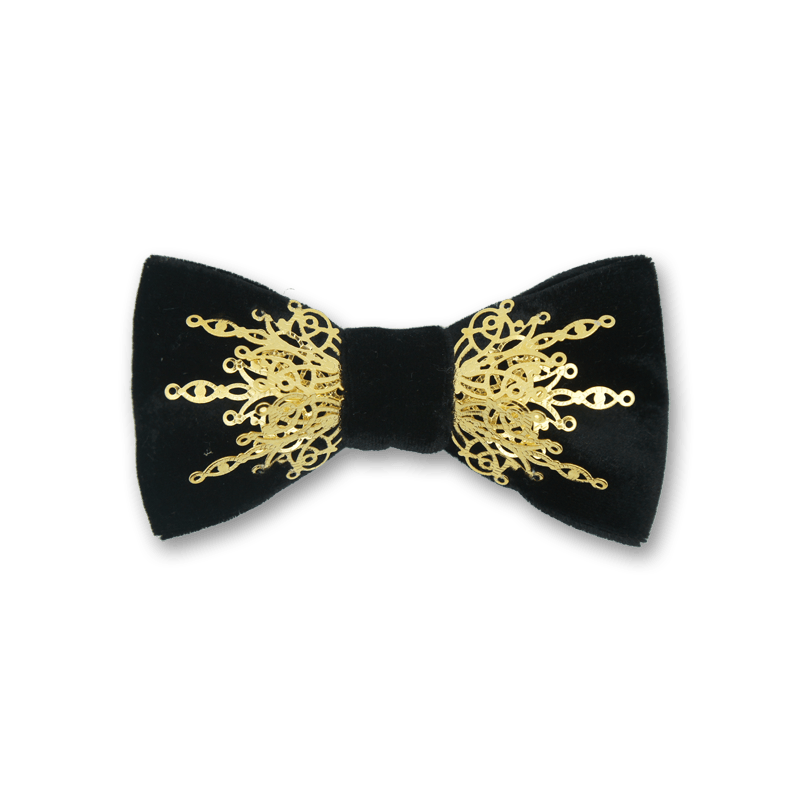 BOW TIE BRAND NEW BLACK AND WHITE SPOTTED BOWTIE ADULT ADJUSTABLE POLYESTER