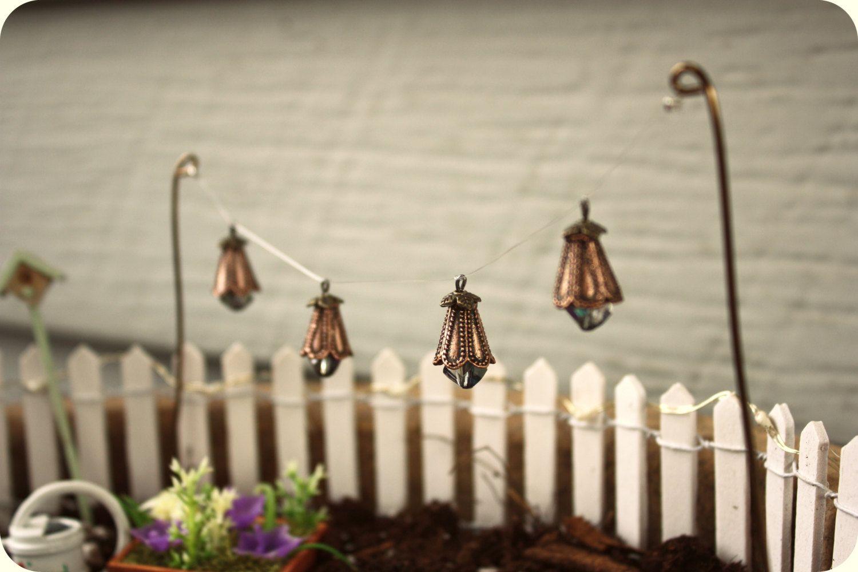 Whimsical Fairy Garden Lantern Lights, String Lights, Miniature Garden  Lanterns, Fairy Garden Accessories