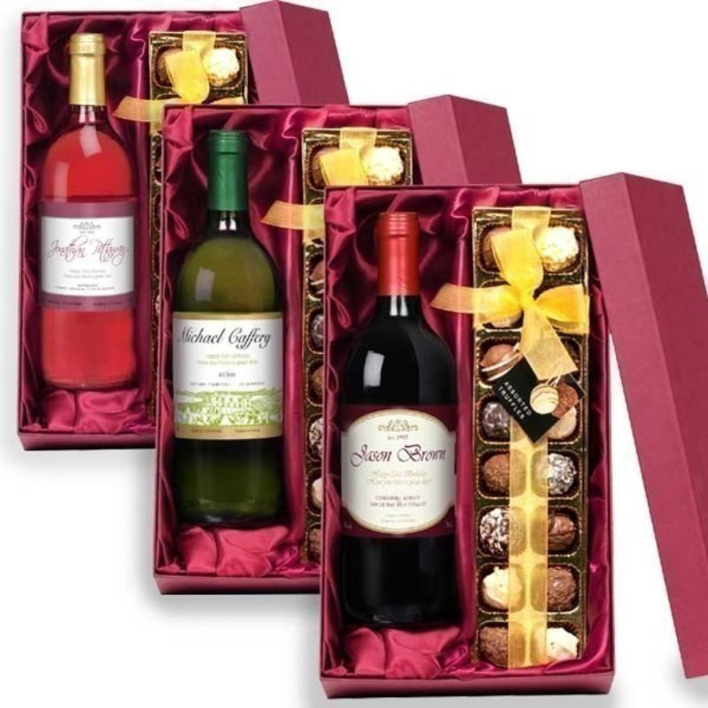 Personalised Wine And Chocolate Gift Set The Personalised Gift