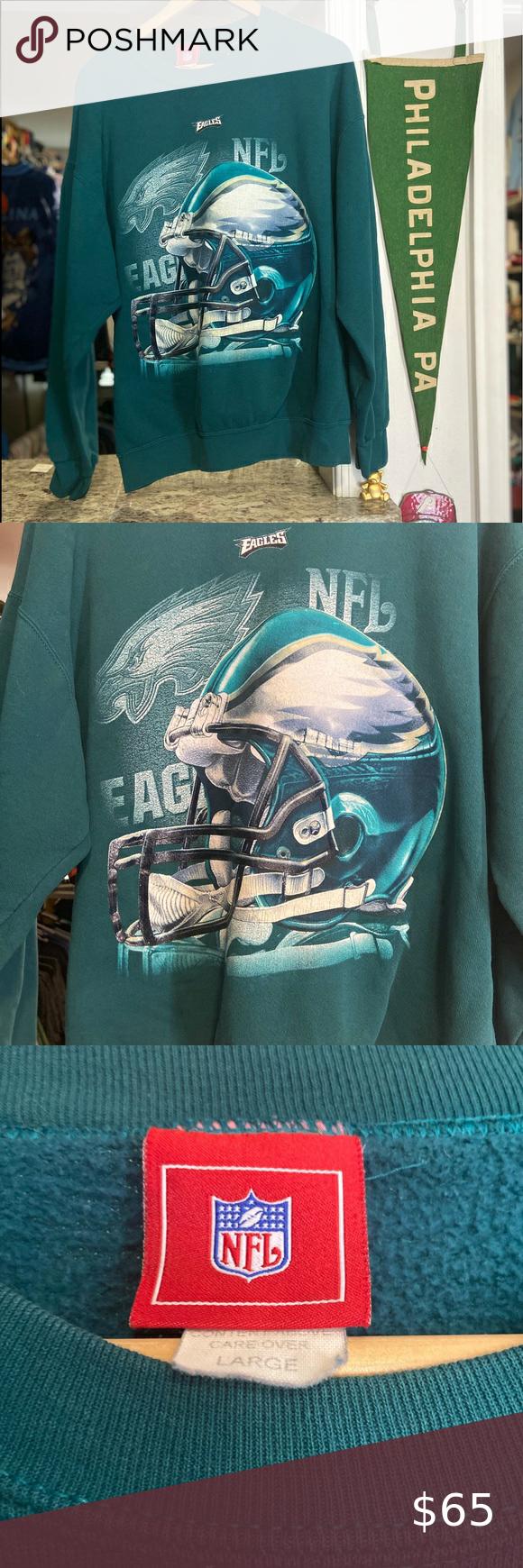 Vintage Philadelphia Eagles Crewneck Sweatshirt Vintage Mens Large Green Philadelphia Eagles Crewneck Sweat Sweatshirts Crew Neck Sweatshirt Vintage Sweatshirt [ 1740 x 580 Pixel ]