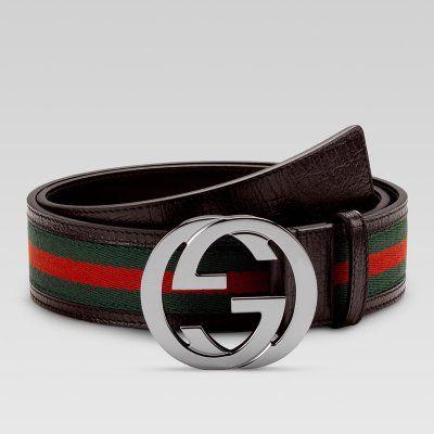 c504473d4 Gucci :: Men Belt :: 114984 H17AR 2061 belt with interlocking G buckle