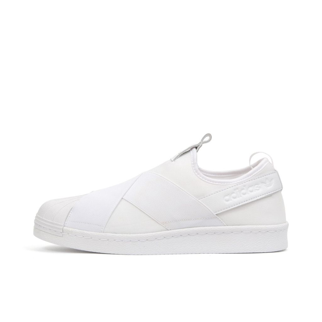 937fe9f2560 Adidas W Superstar Slip On White Black. Available at Concrete Store  Prinsestraat The Hague