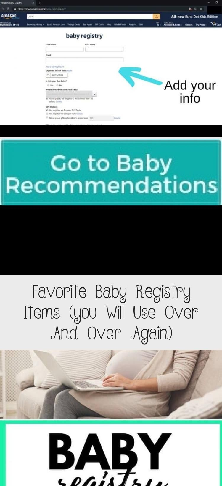 Favorite Baby Registry Items (you Will Use Over And Over Again) - health and diet fitness -  Baby mu...