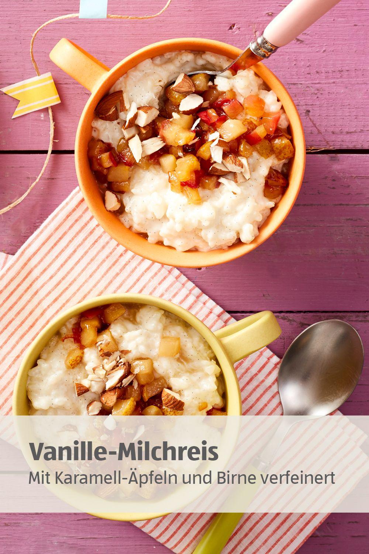 Milchreis mit Äpfeln und Birnen