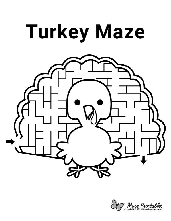 Free Printable Turkey Maze