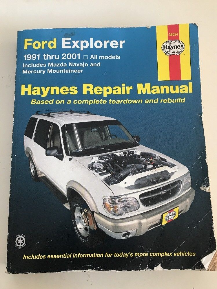ford explorer haynes repair manual 1991 thru 2001 ebay roach s rh pinterest com 1991 ford explorer repair manual pdf 1992 ford explorer repair manual