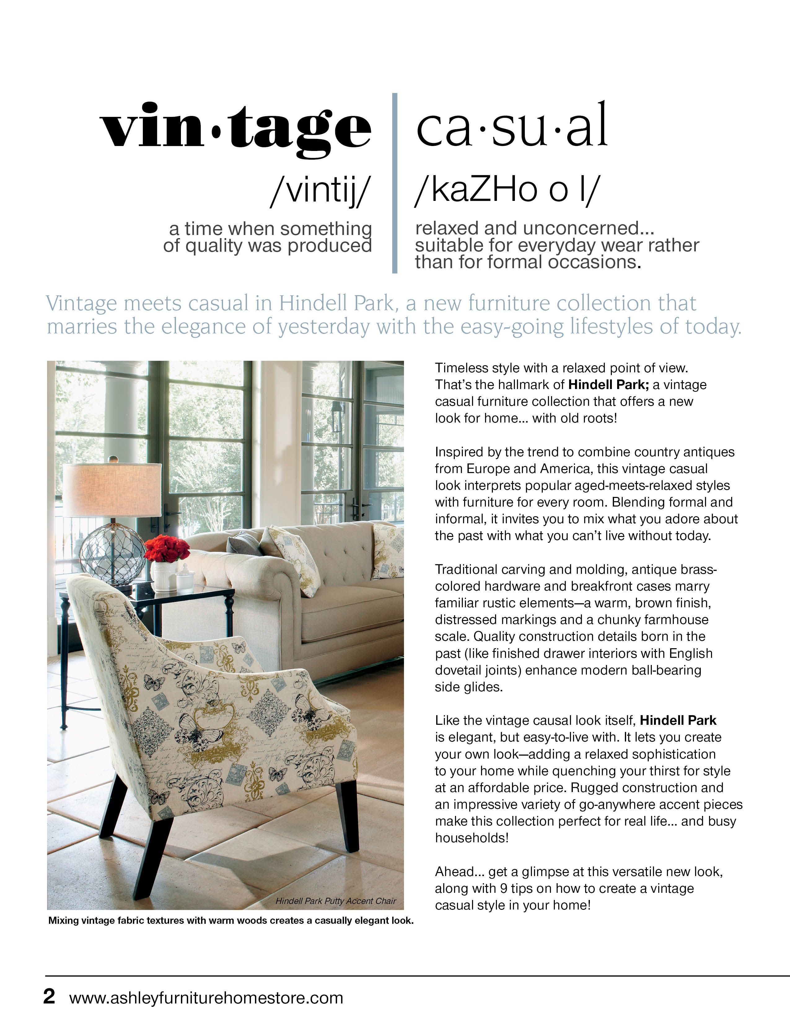 Vintage Meets Casual With The New Hindell Park Furniture Collection