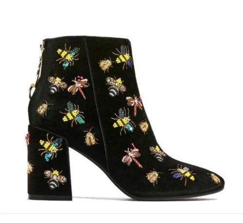 5afd88d50 Zara-Beaded-Ankle-Boots-Sequin-Bug-Bee-Velvet-J-Crew-Free-People-Embellished