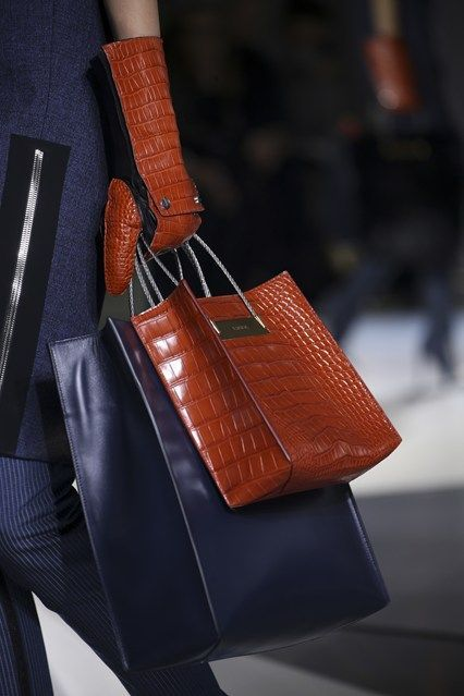 Love this Balenciaga F/W 14 matching glove and multiple shopping bag look. Get all of your fall accessories with http://balharbourshops.com/
