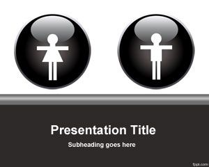 Female and male powerpoint template is a free gender template for female and male powerpoint template is a free gender template for presentations with people or related to people toneelgroepblik Choice Image
