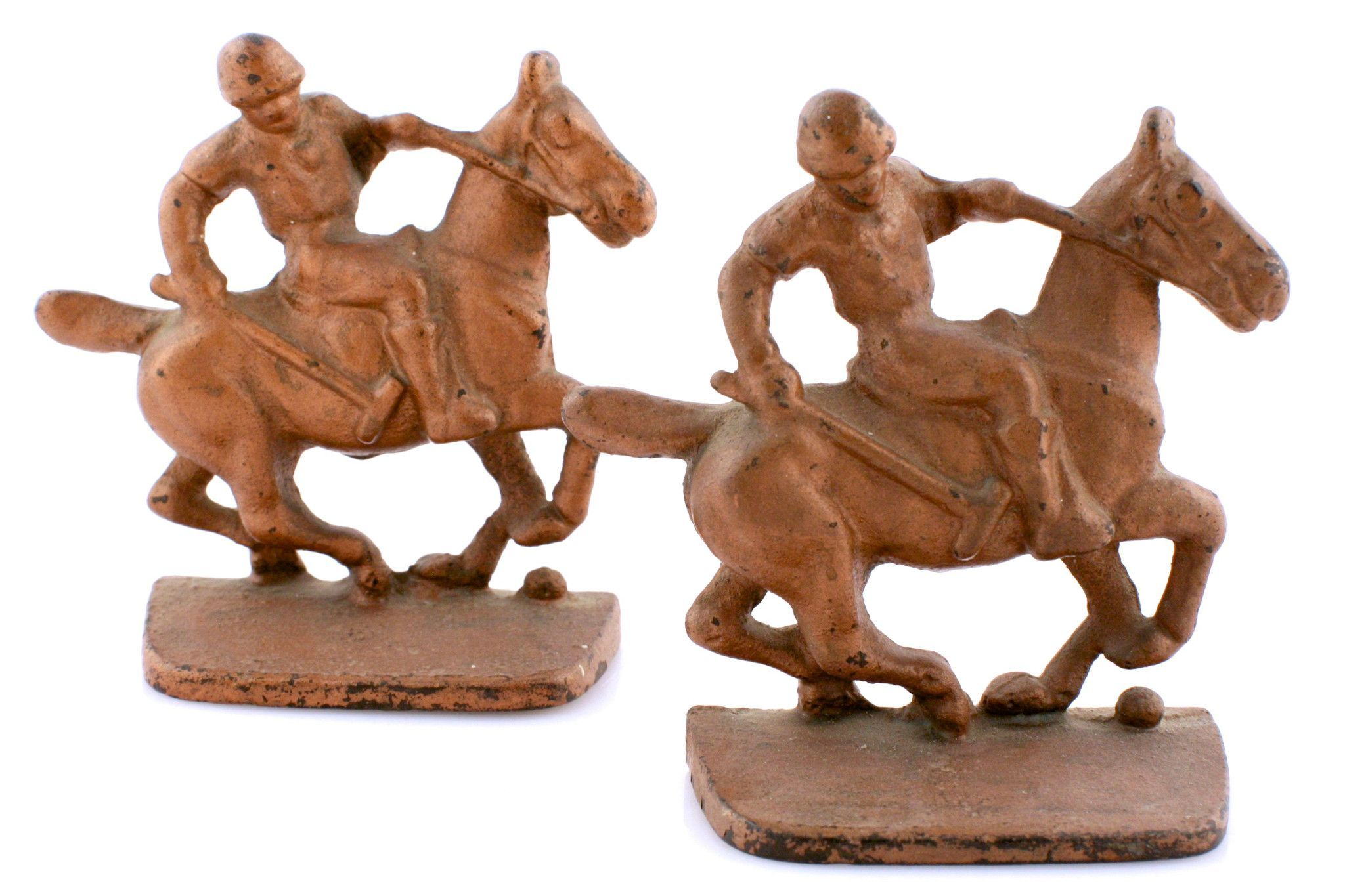 Bronze Polo Player Bookends