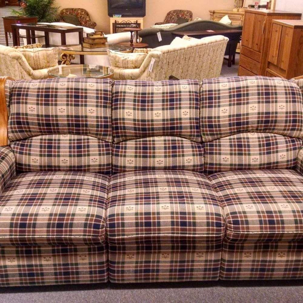 Berkline Country Plaid Sofa Delmarva Furniture Consignment Plaid