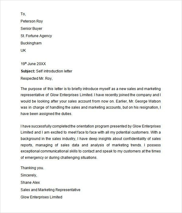 introduction of application letter application letter Pinterest - sample school recommendation letter