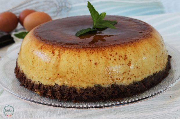 Tarta MÁgica De Flan Y Chocolate El Jardín Mis Recetas