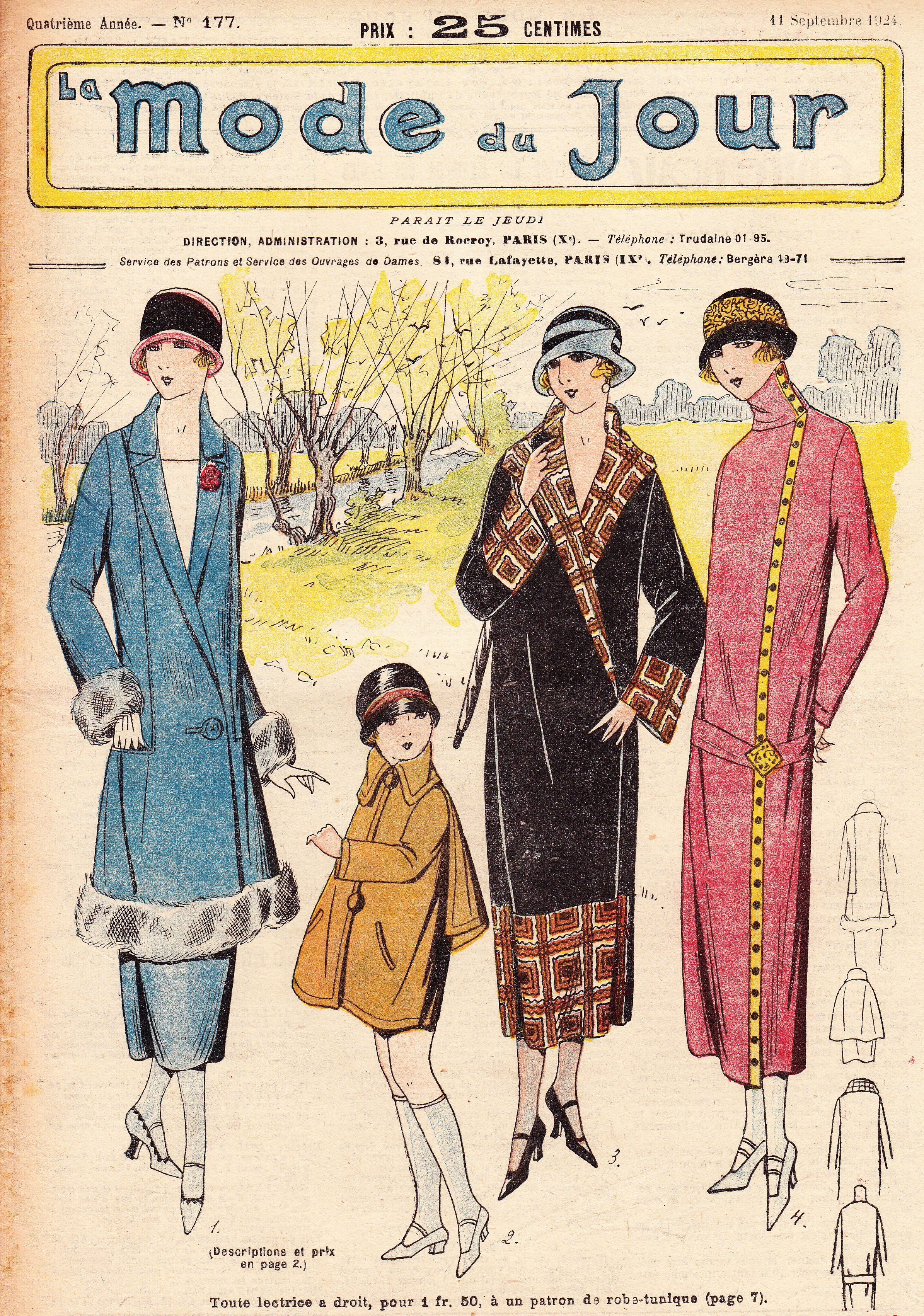 Mode Du Jour 1920s Art Deco Vintage French Womens Fashion