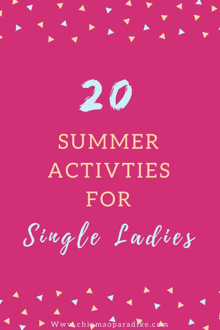 activities for single women