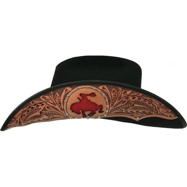 c63aed6de89cd Charlie 1 Horse Let  Er Buck Hand Tooled Hat ( 120) ❤ liked on Polyvore