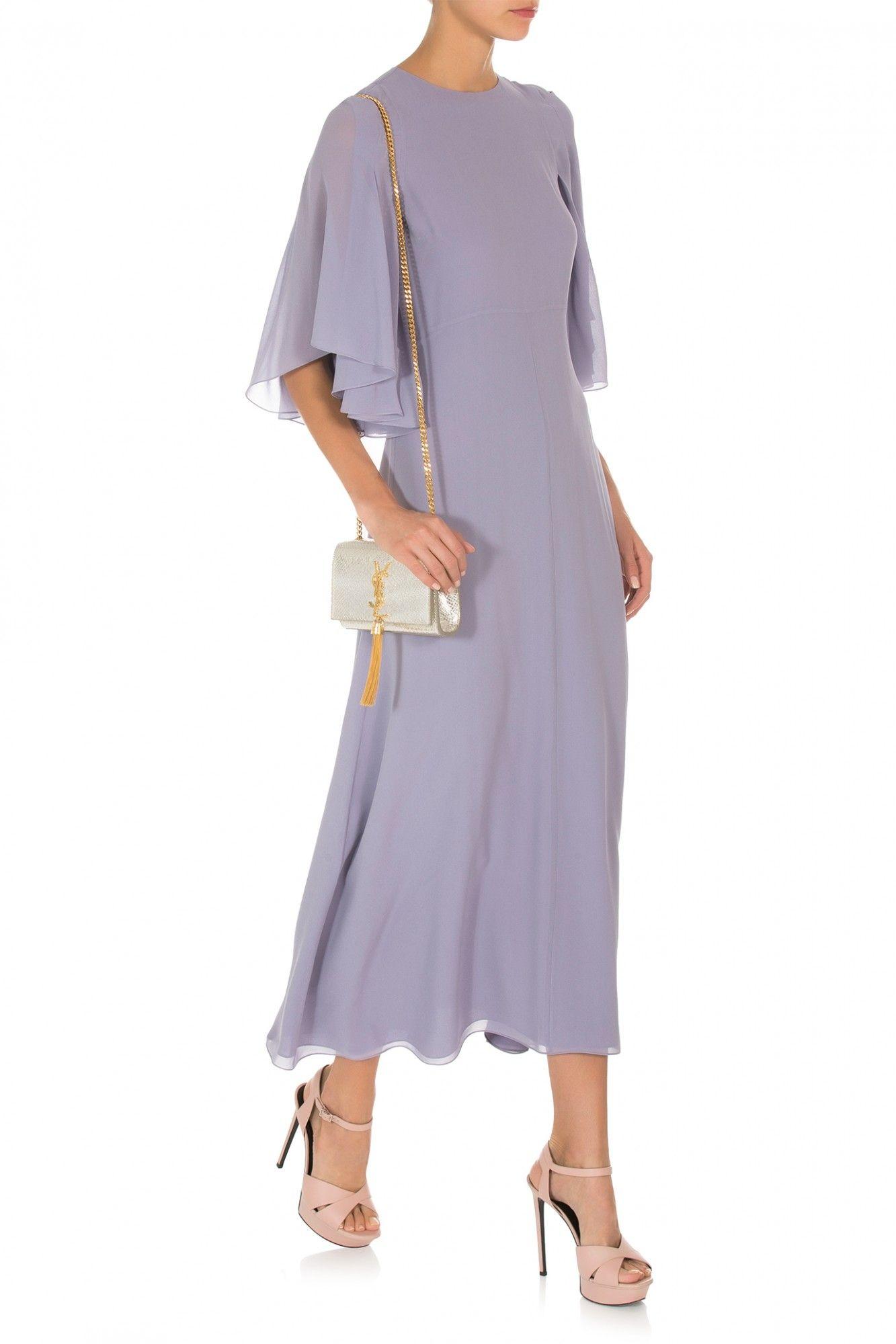 Saint Laurent Ruffle Sleeve Dress
