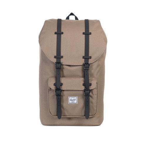 Herschel Little America Backpack P Lead Green Black Rubber With Images Backpacks Herschel Bag