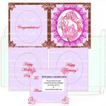 Darina's CraftsTutorial on How to Make Orchid Card with Card Box, SVG Template