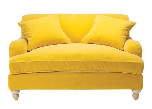 Yellow Velvet Oversized Chair | Amber, Yellow, & Gold | Pinterest ...